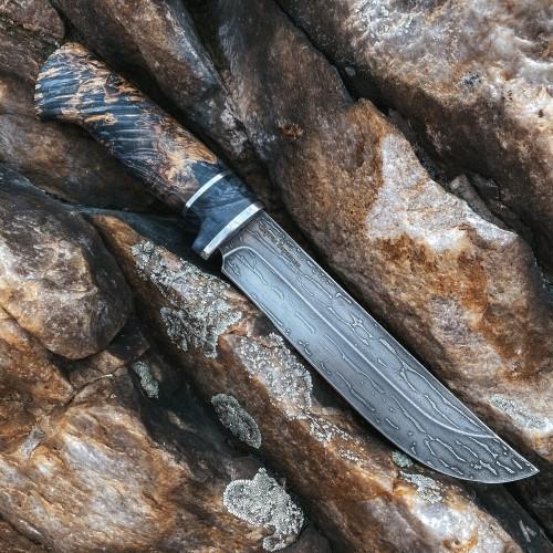 ПРЕДЗАКАЗ: Булатный нож Варнак (стабилизированный кап клена)