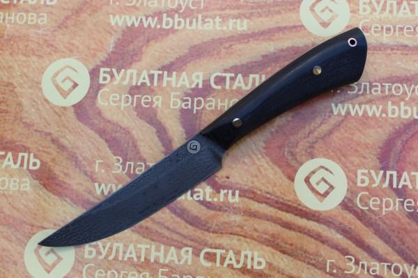 Нож разделочный из литого булата R002М-микарта
