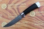 Нож разделочный из литого булата R002-алюминий, наборная кожа