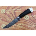 Булатный нож R002-алюминий, наборная кожа