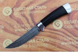 Булатный нож R002 (наборная кожа, алюминий)