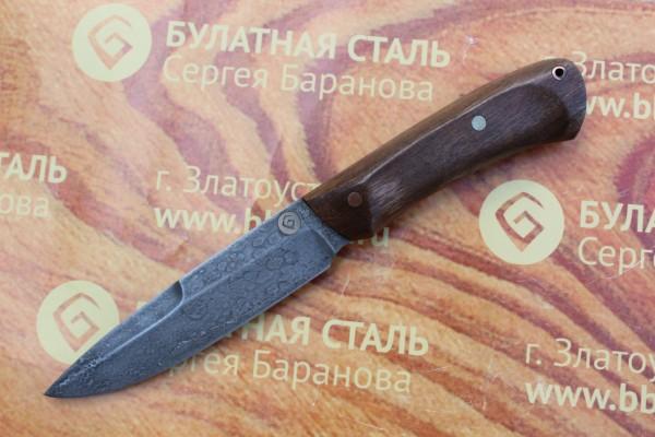 Нож разделочный из литого булата R003O - орех