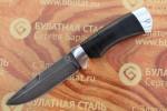 Нож разделочный из литого булата R003-алюминий, наборная кожа
