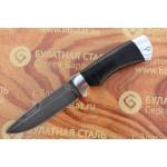Булатный нож R003-алюминий, наборная кожа