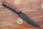Нож разделочный из литого булата R004 - орех