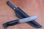 Нож разделочный из литого булата R006 - наборная кожа