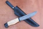 Нож разделочный из литого булата R006 - ясень