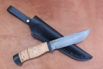 Булатный нож R007-наборная береста