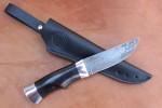 """Нож разделочный из литого булата""""Степчак""""-малый-граб,аллюминий"""