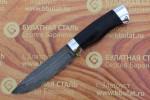Нож разделочный из литого булата R009 - наборная кожа,алюминий
