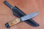 Нож разделочный из литого булата R009 ясень