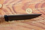 Нож разделочный из литого булата R010-наборная береста