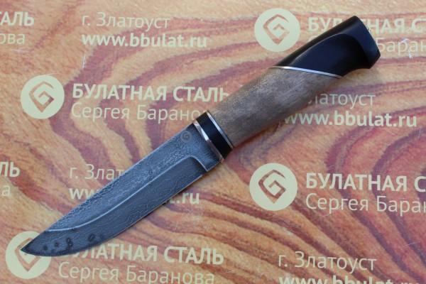"""Нож разделочный из литого булата """"Степчак""""-большой-наборная рукоять"""