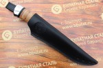 """Булатный нож """"Степчак""""-большой ,наборная береста,алюминий"""