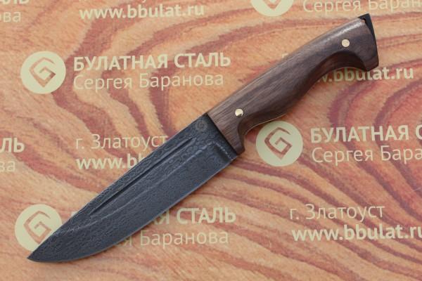 Нож разделочный из литого булата R010-V1 орех