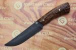 Нож разделочный из литого булата R012 - каштан