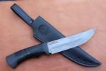 Нож разделочный из литого булата R012 - наборная кожа