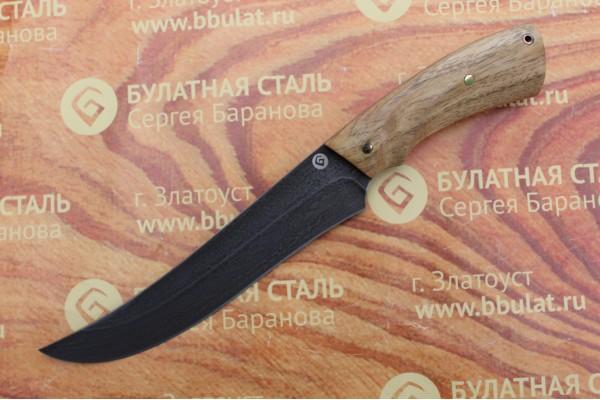 Нож разделочный из литого булата R013-акация