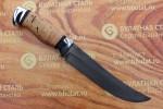 Нож разделочный из литого булата R013-алюминий,наборная береста