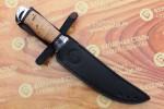 Булатный нож R013-алюминий,наборная береста