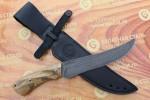 Нож разделочный из литого булата R013-ясень