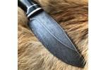 Шкуросъемный булатный нож S004 (граб)