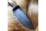 Шкуросъемный булатный нож S004 (кавказский горный орех)