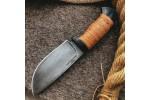 Шкуросъемный булатный нож S002 (наборная береста)