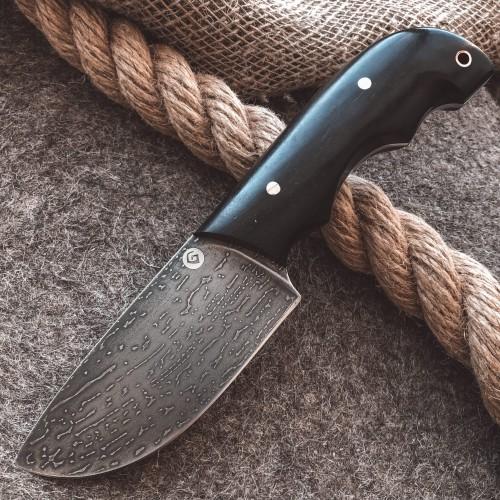 Шкуросъемный булатный нож S002 (фултанг,  граб)