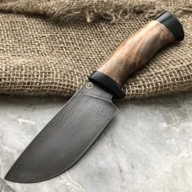 Шкуросъемный булатный нож S002 (кавказский горный орех)