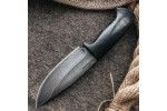 Шкуросъемный булатный нож S004 (наборная кожа)