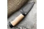 Шкуросъемный булатный нож S005 (каштан)