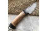 Шкуросъемный булатный нож S005 (горный орех)