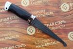 Нож шкуросъемный из литого булата Промысловый-алюминий,граб