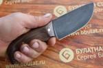 Шкуросъемный булатный нож S002 (фултанг,  орех)