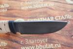 Нож шкуросъемный из литого булата S002-наборная береста