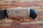 Шкуросъемный булатный нож S002-наборная береста