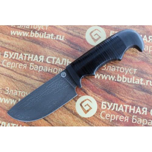 Шкуросъемный булатный нож S002-наборная кожа
