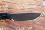 Нож шкуросъемный из литого булата S002-наборная кожа