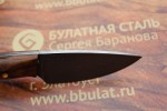 Шкуросъемный булатный нож S005 (фултанг, каштан)
