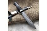 Булатный нож НР-40 Офицерский (никель, стабилизированный граб)