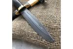 Булатный нож НР-40 Офицерский (позолота, стабилизированный граб)