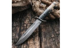 Булатный нож T002 / НР-40 (стаб.кап клена)