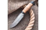 Булатный нож T003 - наборная береста