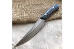 Булатный нож R008 (фултанг, стаб.карельская береза)