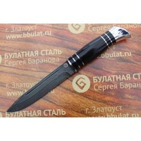 Булатный нож T002(нр-40)v1 граб,тыльник