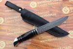 Нож туристический из литого булата T002(нр-40)v1 граб,тыльник