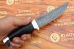 Нож туристический из литого булата T003 -алюминий, наборная кожа
