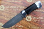 Нож туристический из литого булата T005 - наборная кожа,алюминий