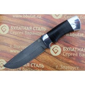 Булатный нож T005 (наборная кожа, алюминий)